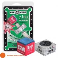 Инструмент для обработки наклейки Cue Cube с мелом в блистере
