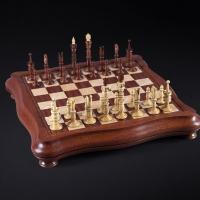 Шахматы Калверт люкс  | 420*420, самшит