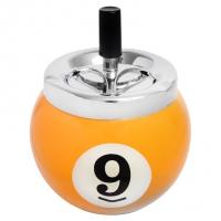 Пепельница керамическая Бильярдный шар №9