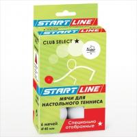 Мячи теннисные Start Line Club Select  / 6шт. белые d=40