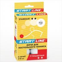 Мячи теннисные Start Line Club Standart 2 / 6шт. белые d=40