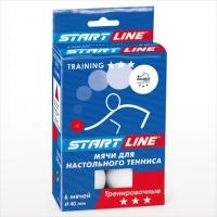 Мячи теннисные Start Line Club Training 3 / 6шт. белые d=40