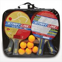 Набор теннисный - ракетки 4шт, мячи 6шт, сетка с креплением