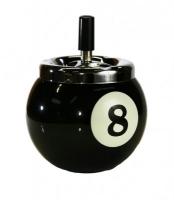 Пепельница керамическая Бильярдный шар №8