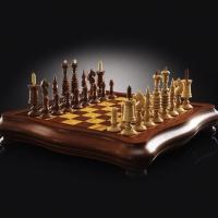 Шахматы Барлейкорн Люкс | 450*450, самшит